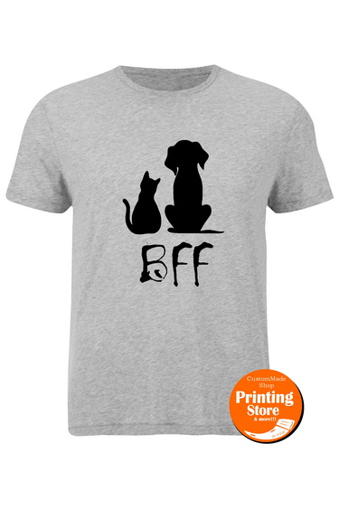 T-shirt Bff Dog and Cat