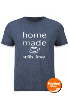 T-shirt Homemade with love coffee