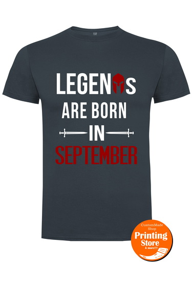T-shirt spartan legends september