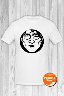 T-shirt John Lennon Face White