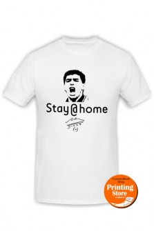 T-shirt Stay home maradona