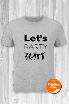 T-shirt Fortnite Lets Party Grey