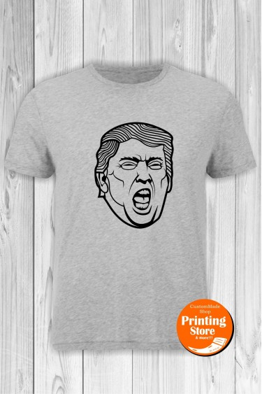 T-shirt Donald J Trump 2 Grey