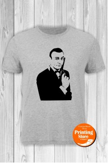 T-shirt James Bond Grey
