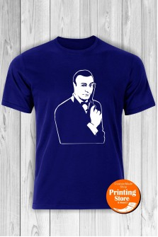 T-shirt James Bond Blue