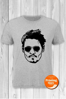 T-shirt Johhny Depp Grey