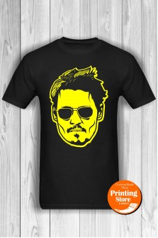 T-shirt Johhny Depp Black