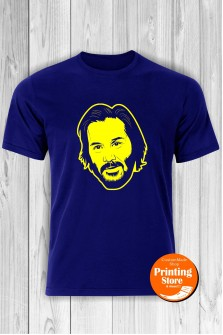 T-shirt Keanu Reeves Blue