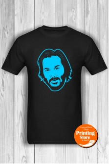 T-shirt Keanu Reeves Black
