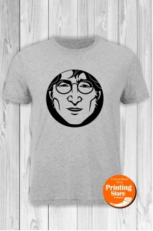 T-shirt John Lennon Face Grey