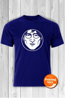T-shirt John Lennon Face Blue
