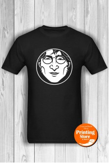 T-shirt John Lennon Face Black