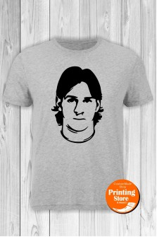 T-shirt Lionel Messi Grey