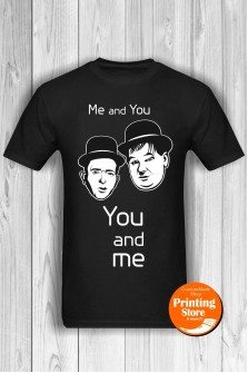 T-shirt Laurel Hardy You And Me Black