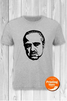 T-shirt Marlon Brando Godfather Grey