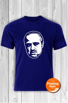 T-shirt Marlon Brando Godfather Blue