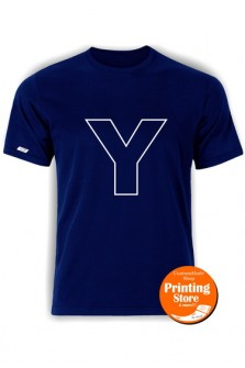 T-shirt Y english alphabet σκούρο μπλε