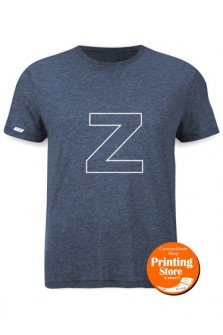 T-shirt Z english alphabet heater γκρι
