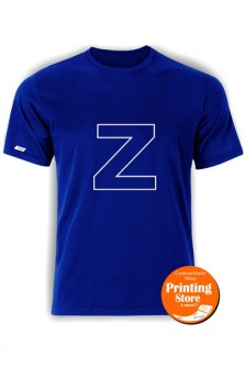 T-shirt Z english alphabet μπλε